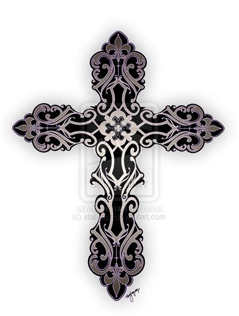 ornate cross tattoos designs by zachary pitts