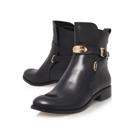 michael michael kors arley ankle boot in black lyst