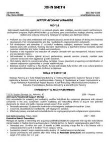 Account Manager Resume Sles by Click Here To This Senior Account Manager Resume Template Http Www