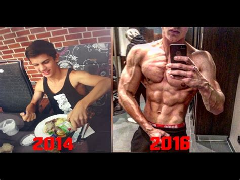 17 years old 2 years body transformation skinny to fit