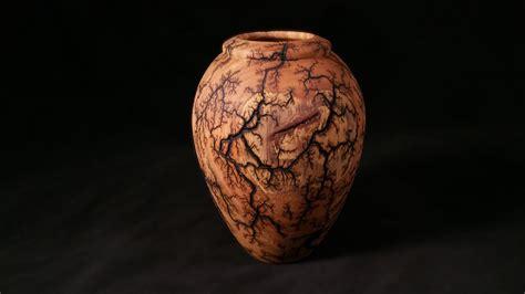Turned Wooden Vases Woodturning With Tim Yoder Lichtenberg Fractal Burned