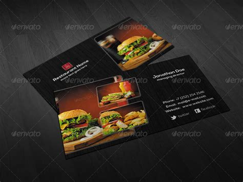 restaurant business card template psd 45 restaurant business cards templates psd designs