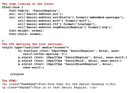 Font Design Html Code   image gallery html font styles