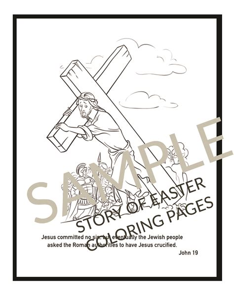 Printable Christian Easter Coloring Pages
