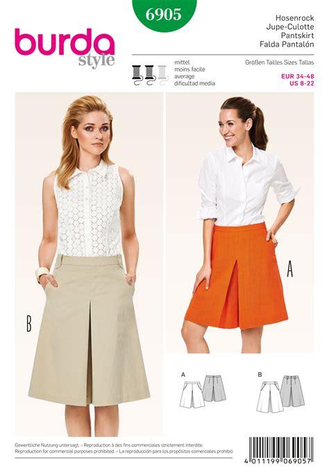 skirt pattern burda burda 6905 skirts