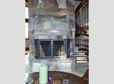 Hand Crafted Stone Fireplace Remodel With Hand Forged Iron ... Industrial Style Home Decor