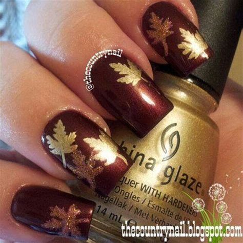 25 best autumn leaf nail art designs ideas stickers