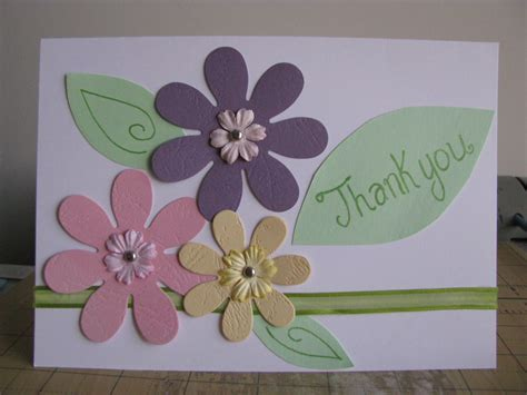 Handmade Thankyou Cards - thank you card a simple and fast handmade card friend