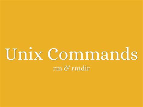 unix tutorial powerpoint unix command rm rmdir by loi caparida