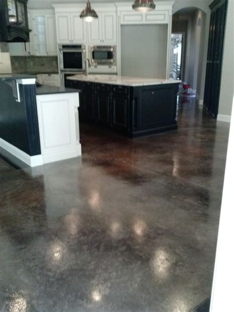 concrete kitchen flooring concrete staining traditional kitchen jacksonville