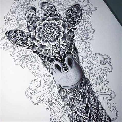 imagenes de jirafas para tatuar zentangle tekeningen zentangle en mooie plaatjes