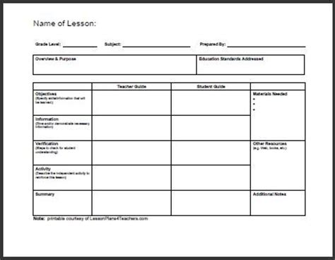 All Templates Daily Lesson Plan Template Lesson Plan Layout Template