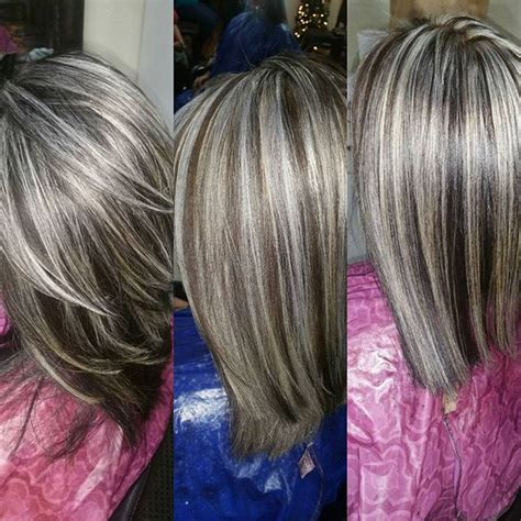 frosted hair highlights for dark hair frosted hair color look pictures to pin on pinterest