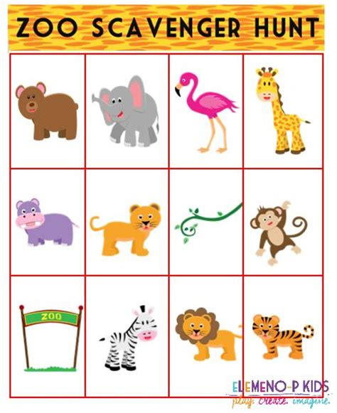 printable zoo games free zoo scavenger hunt printable preschool ideas