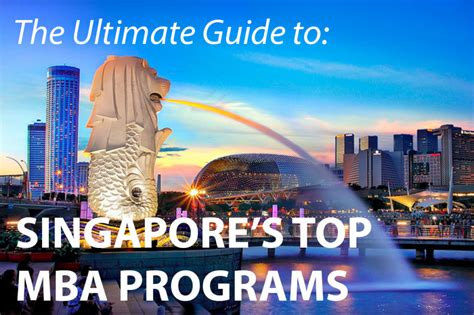 Smu Singapore Mba Ranking by The Best Mba Programs In Singapore 187 Touch Mba