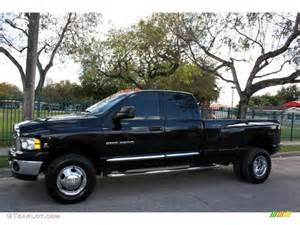 black 2004 dodge ram 3500 laramie cab 4x4 dually