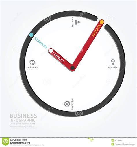 clock layout vector infographics vector clock design diagram line style
