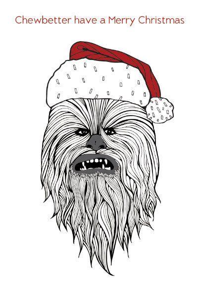 funny star wars christmas card chewbacca chewbetter   merry christmas star wars humor