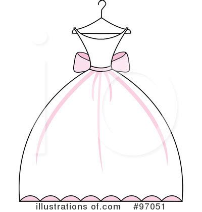 Royalty free rf wedding dress clipart illustration by pams clipart