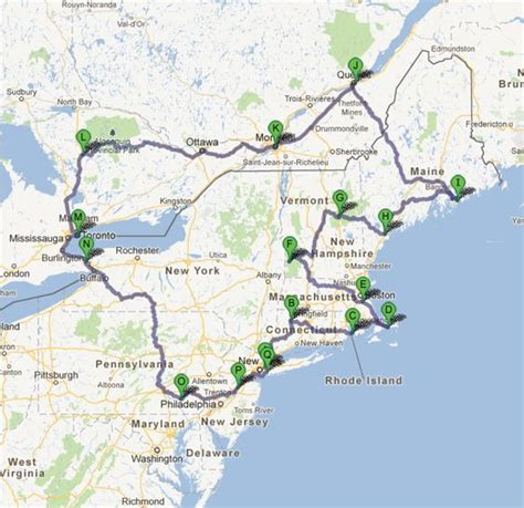 driving map northeast us northeast us road map images