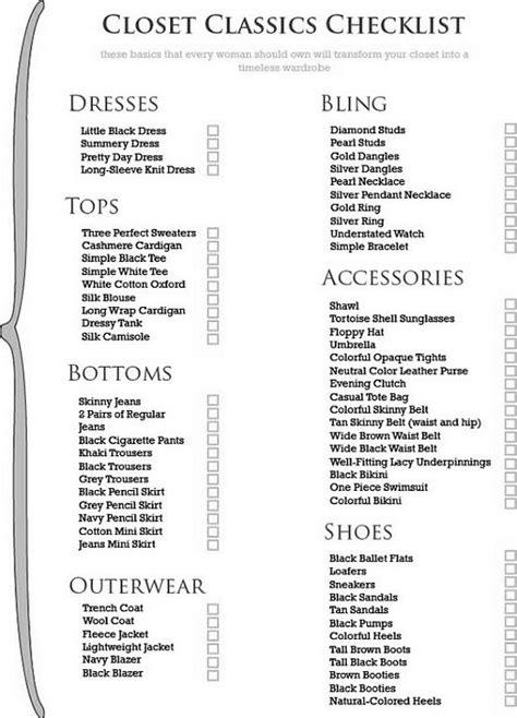 wardrobe essentials checklist list of women s wardrobe basics awesome shoes clothes
