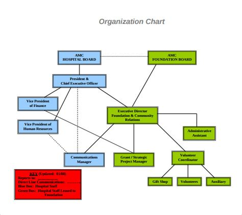 board of directors organizational chart template sle hospital organizational chart 8 documents in pdf