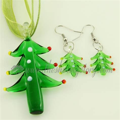 venetian glass christmas tree tree venetian murano glass pendants and earrings jewelry wholesale