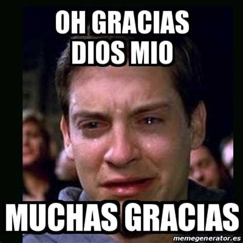 Syracuse Memes - meme crying peter parker oh gracias dios mio muchas