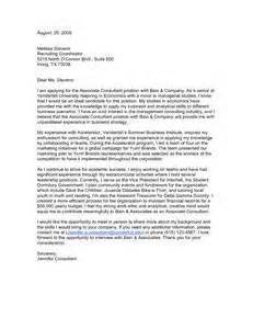 management consulting cover letters letter of recommendation