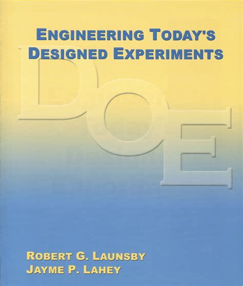 design of experiment book doe and process validation books launsby consulting
