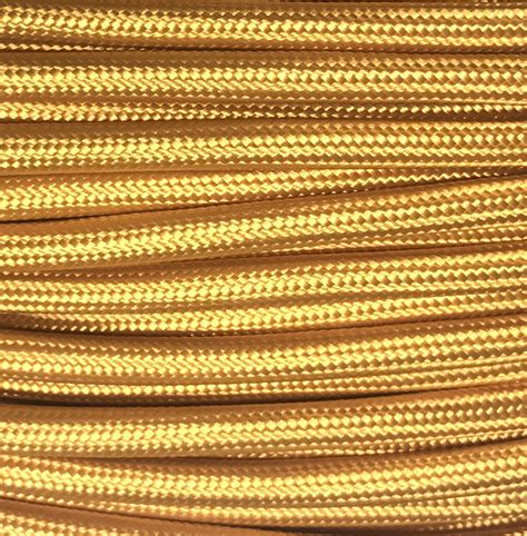 cable color comprar cable textil decorativo color ocre comprar