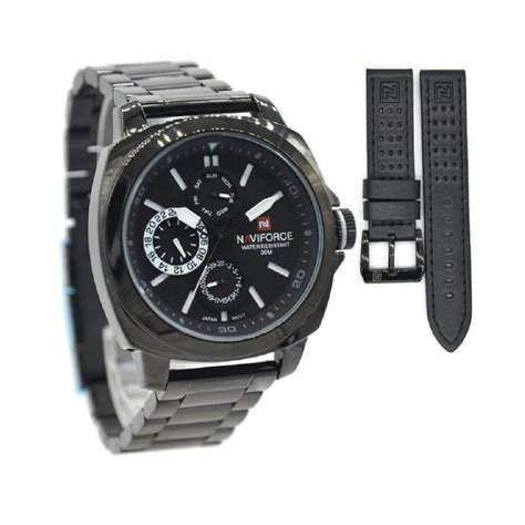 Jam Tangan Naviforce Nf 9069 jual naviforce stainless steel jarum jam tangan pria