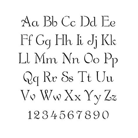 stencils alphabet stencils simple script lettering