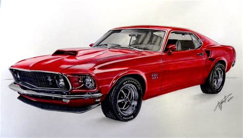 mustang drawing drawing ford mustang 1969