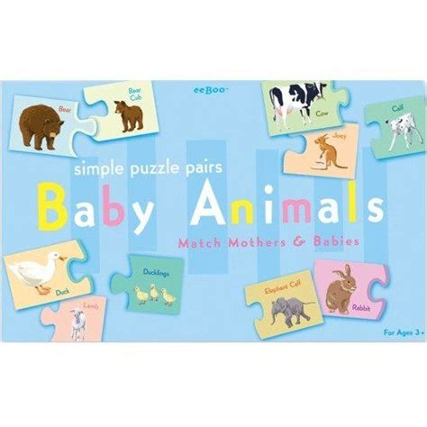 baby animal puzzle 17 best images about 2 years on toys wooden