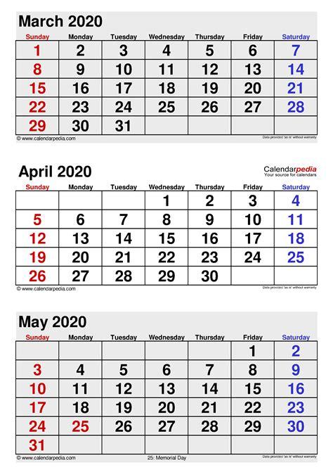 april  calendar templates  word excel