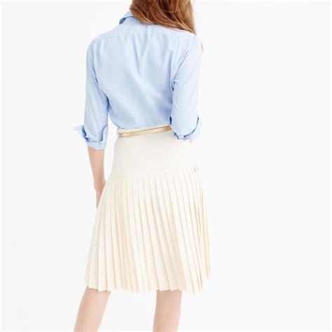 j crew drop waist pleated skirt in 120s wool in