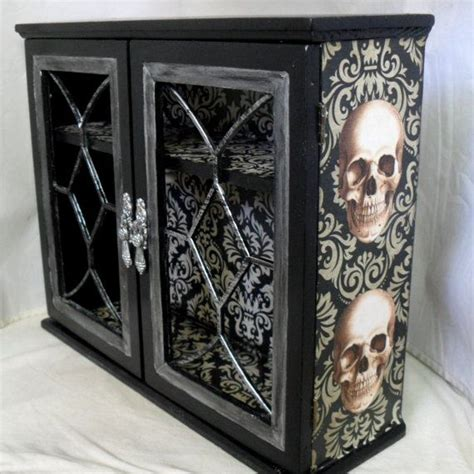 skull home decor gothic home decor gothic cabinet reserved for sarah becker