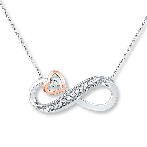 infinity jewelers jared infinity necklace 1 20 ct tw diamonds sterling