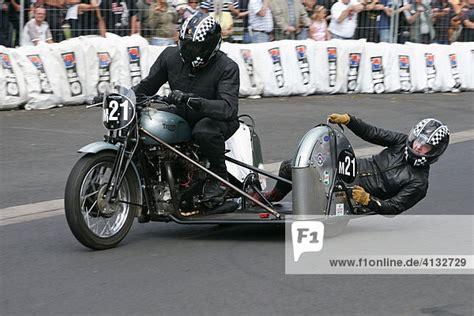 Motorradrennen Mit Beiwagen by Baujahr 1952 Deutschland Hessen Motorrad Oldtimerrennen