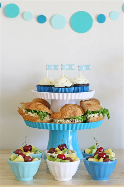 blue and white party glorious treats
