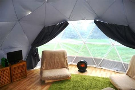 dome glamping holiday in dorset countryside