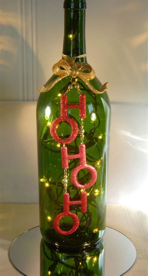 christmas decoration wine bottle l with ho ho ho