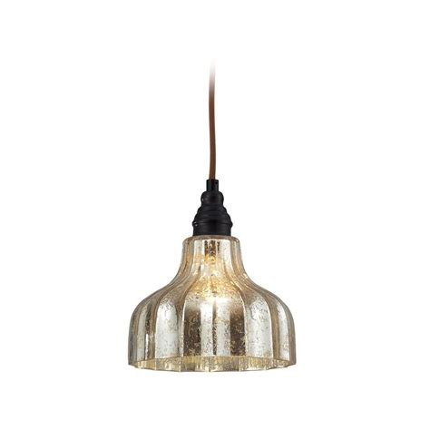 Elk Lighting Danica Mini Pendant Light With Mercury Glass Mercury Light Pendant