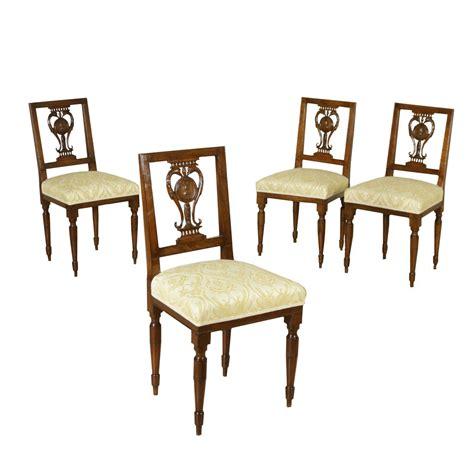 antiquariato sedie gruppo di quattro sedie neoclassiche sedie poltrone