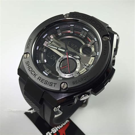 casio g shock steel digital analog gst210b 1a