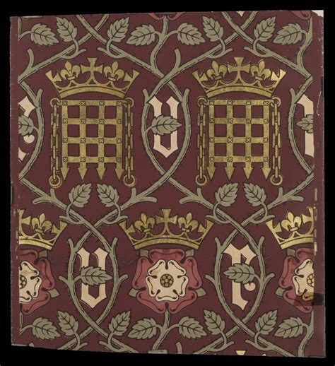 tudor style wallpaper wallpaper a w pugin v a search the collections