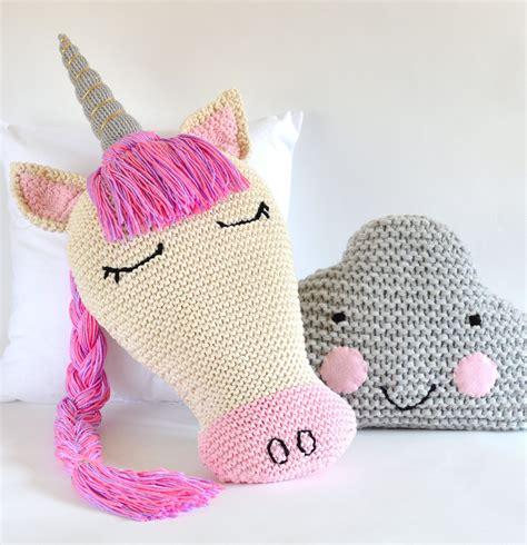 unicorn cushion pattern pillow knitting patterns cloud pillow knitting patterns