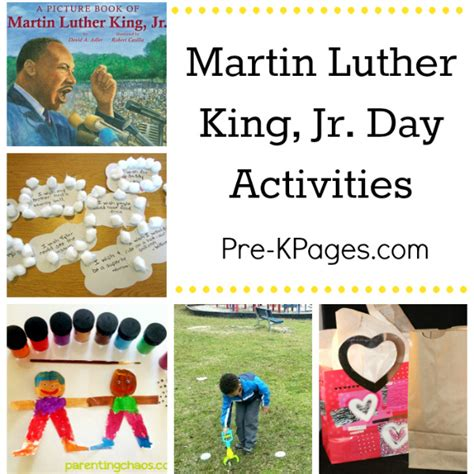 martin luther king jr day ideas pre k pages