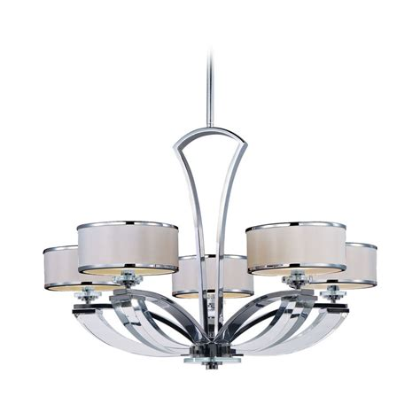 Modern Chrome Chandeliers Modern Chandelier With White Shades In Polished Chrome Finish 39825bcwtpc Destination Lighting